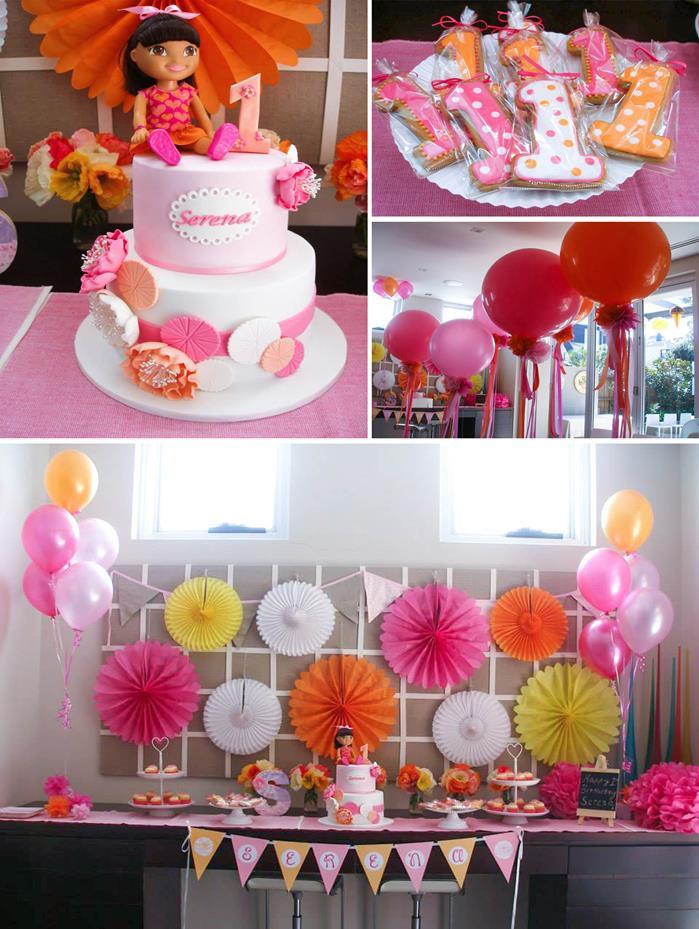 Dora Birthday Decorations  Kara s Party Ideas Dora the Explorer modern girl birthday