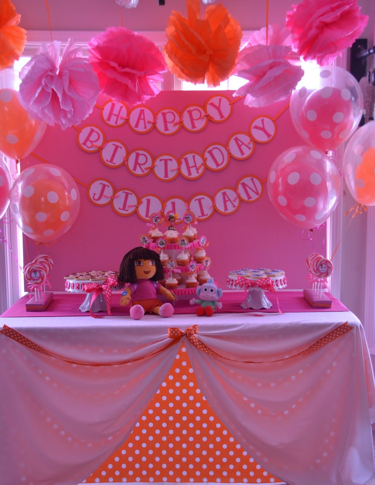 Dora Birthday Decorations  Pirates & Princesses Dora the Explorer & Boots 3rd