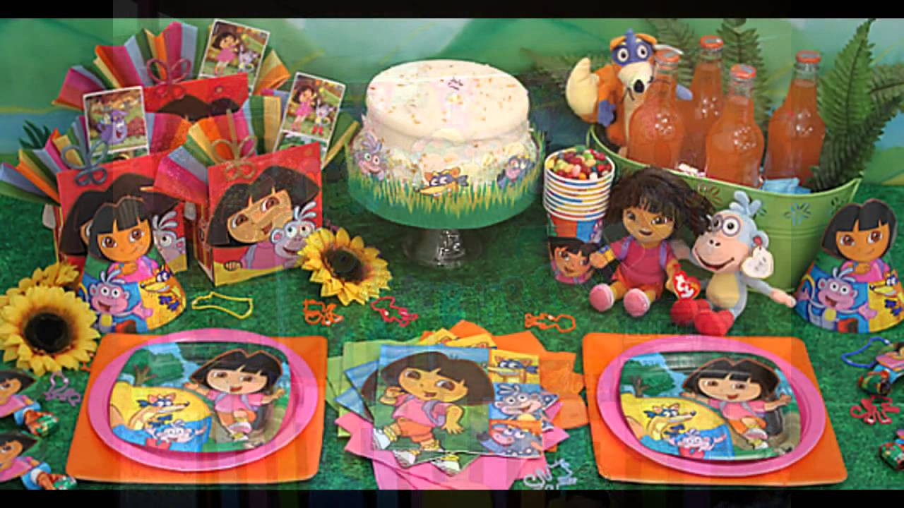 Dora Birthday Decorations  dora birthday party decorations at home ideas