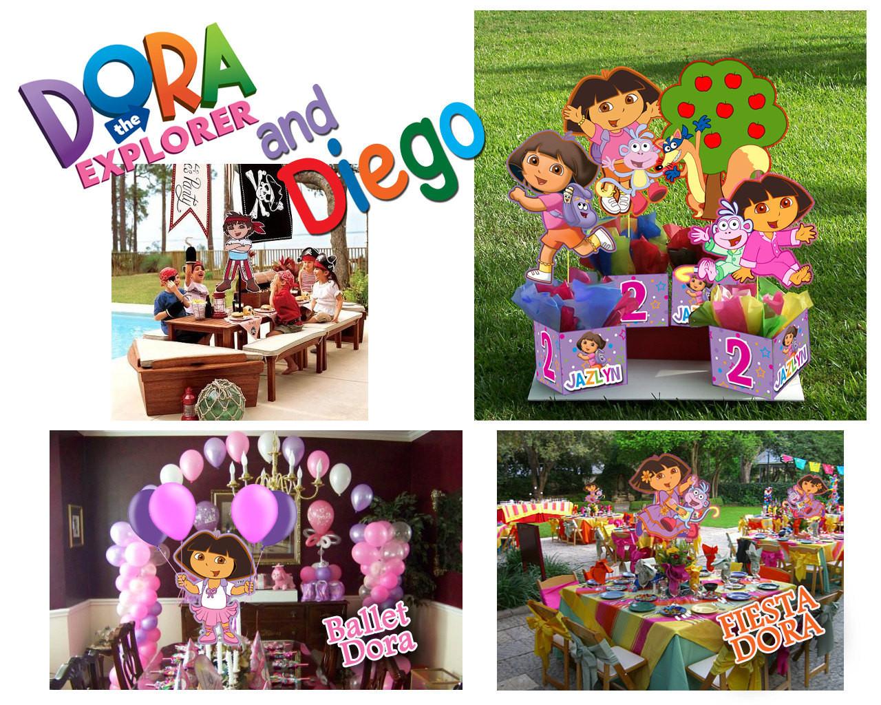 Dora Birthday Decorations  DORA THE EXPLORER Birthday Party Centerpiece 3 feet tall