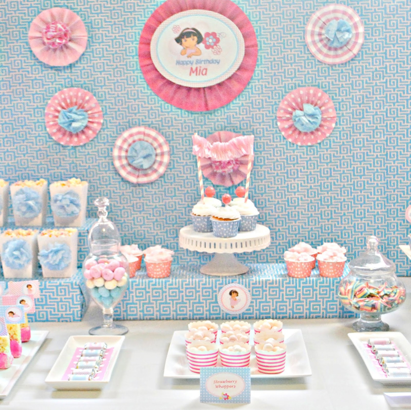Dora Birthday Decorations  Karo s Fun Land A Sweet Dora Birthday Party
