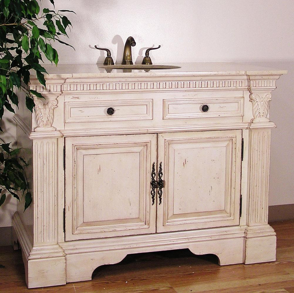 Dresser Bathroom Vanity  Antique White Bathroom Vanities – Remodeling Bathroom