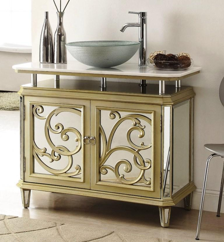 Dresser Bathroom Vanity  Mirrored Bathroom Vanity in 10 Enchanting Design Ideas