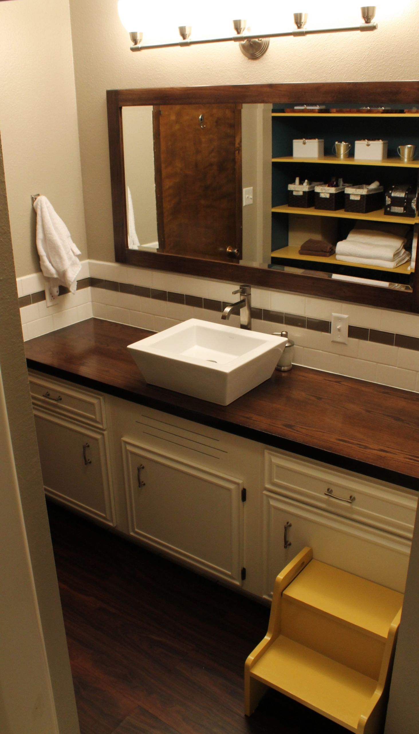 Dresser Bathroom Vanity  Wood Countertop