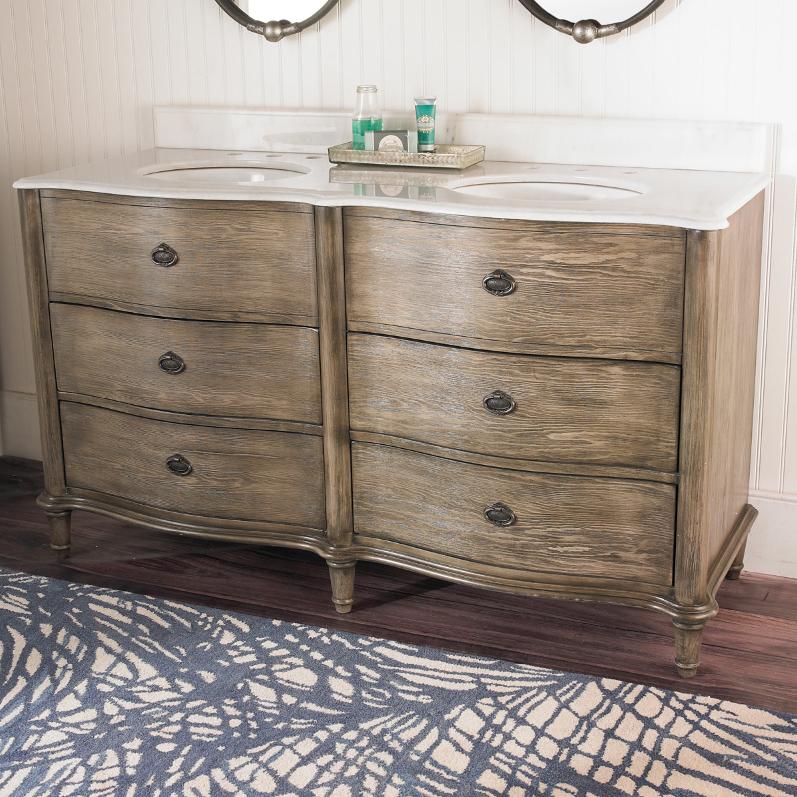 Dresser Bathroom Vanity  Dresser Style Double Vanity Sink Shades of Light