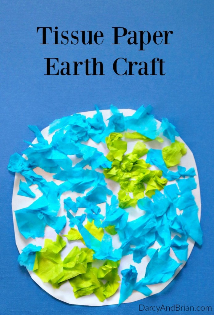 Earth Day Craft Ideas For Preschoolers  Easy Tissue Paper Earth Day Craft for Kids