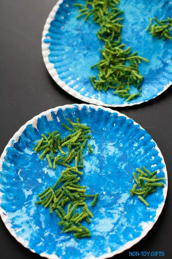 Earth Day Craft Ideas For Preschoolers  Paper Plate Earth Craft for Kids