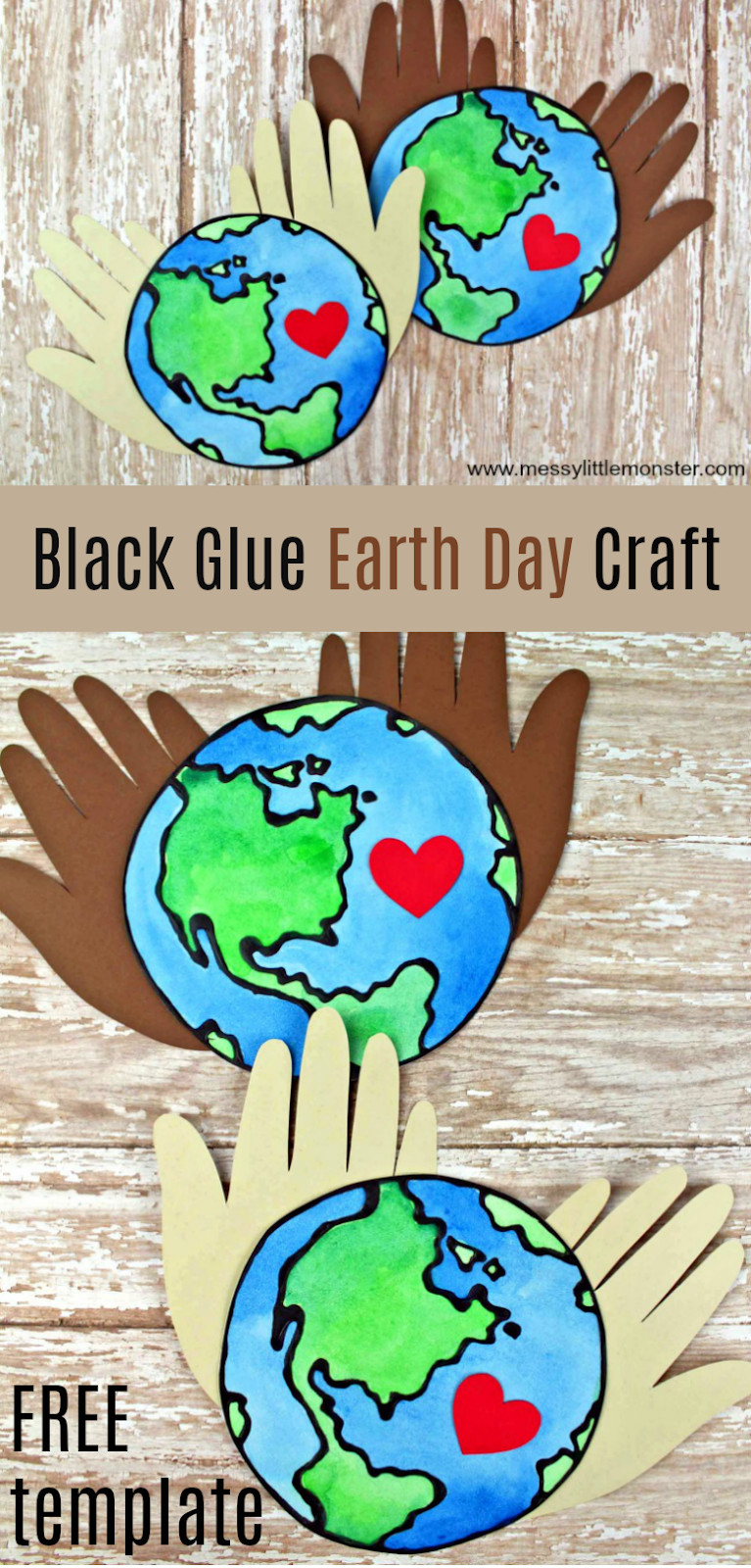 Earth Day Craft Ideas For Preschoolers  Earth Day Black Glue Craft a stunning planet earth