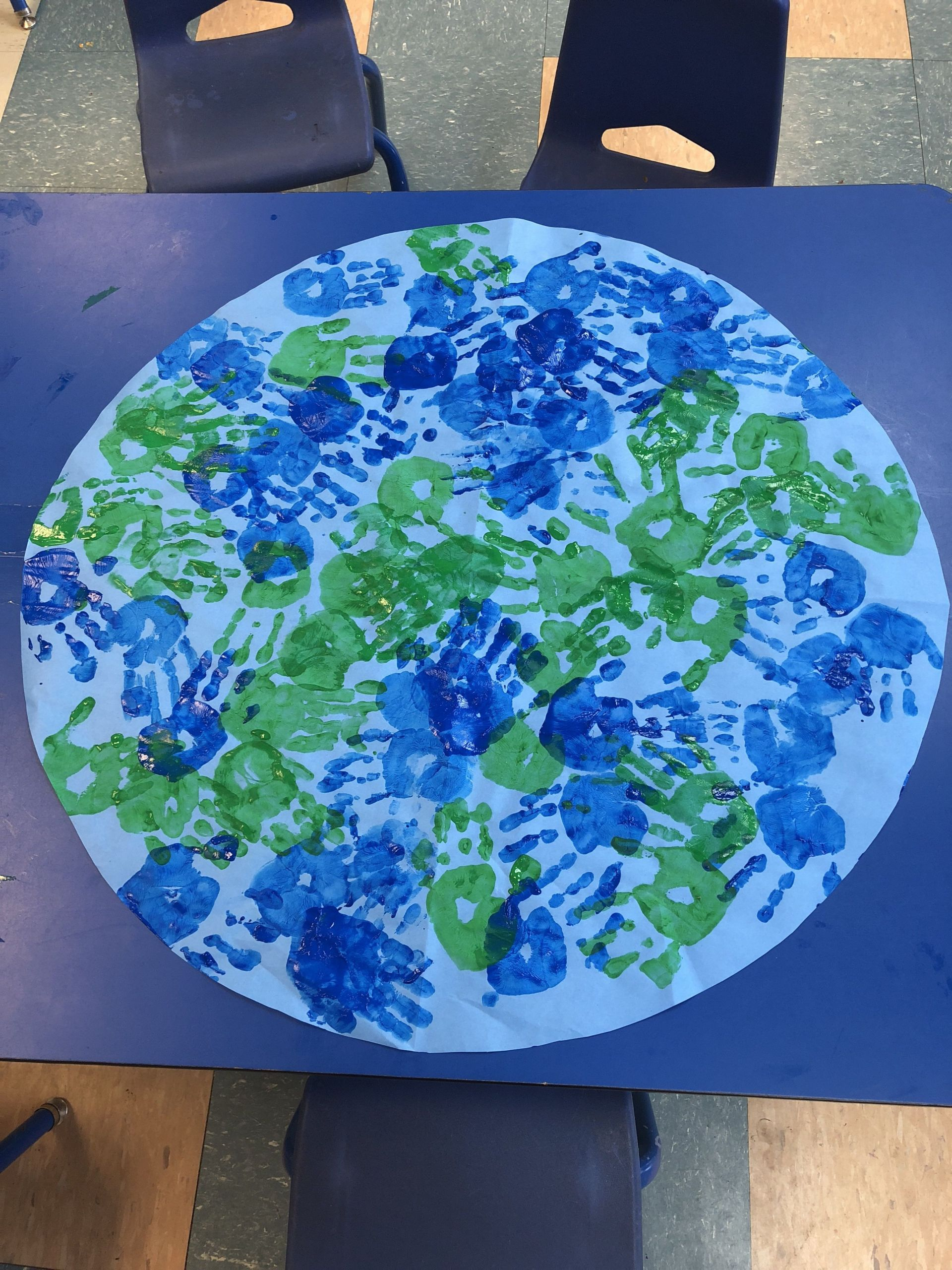Earth Day Craft Ideas For Preschoolers  Earth day classroom Earth classroomearth handprint