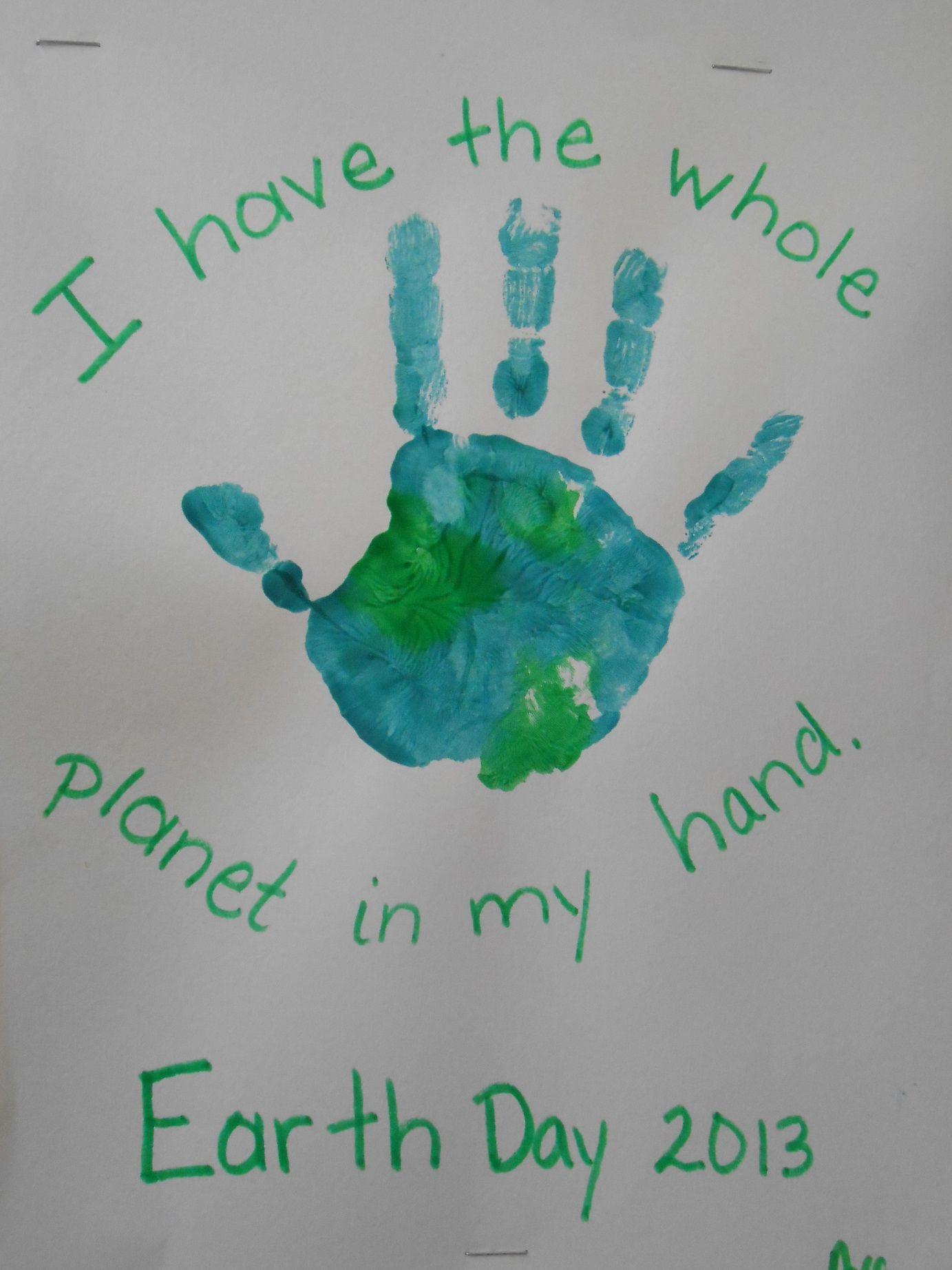Earth Day Craft Ideas For Preschoolers  Earth Day hand painting Project Preschool