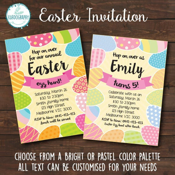 Easter Birthday Invitations  Easter Invitation Template – 28 PSD EPS Format Download