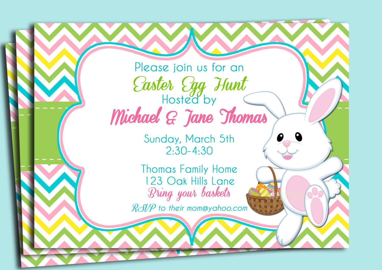 Easter Birthday Invitations  Easter Birthday Invitations Ideas – Bagvania