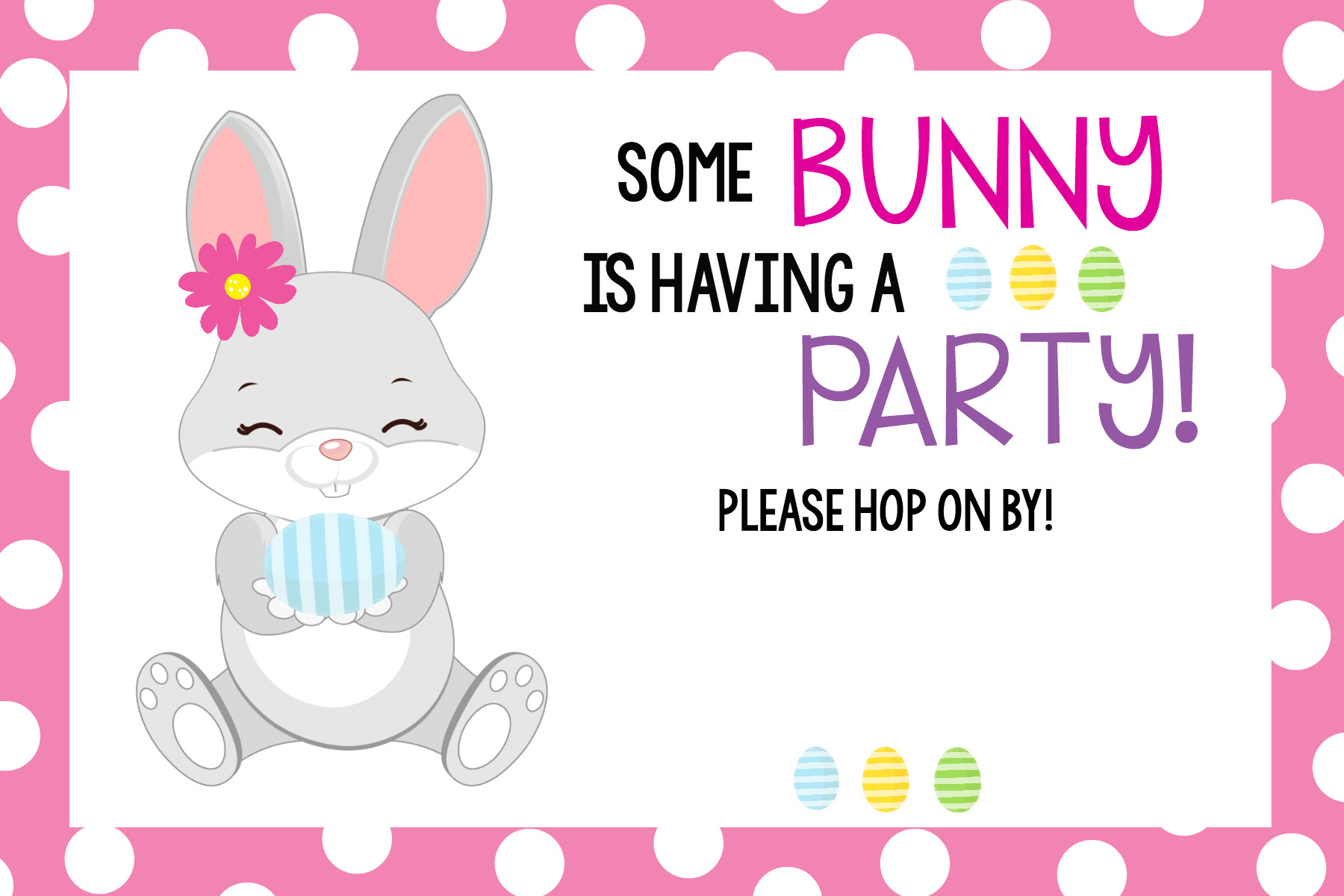"Easter Birthday Invitations  ""Some Bunny Loves You"" Easter Party – Fun Squared"
