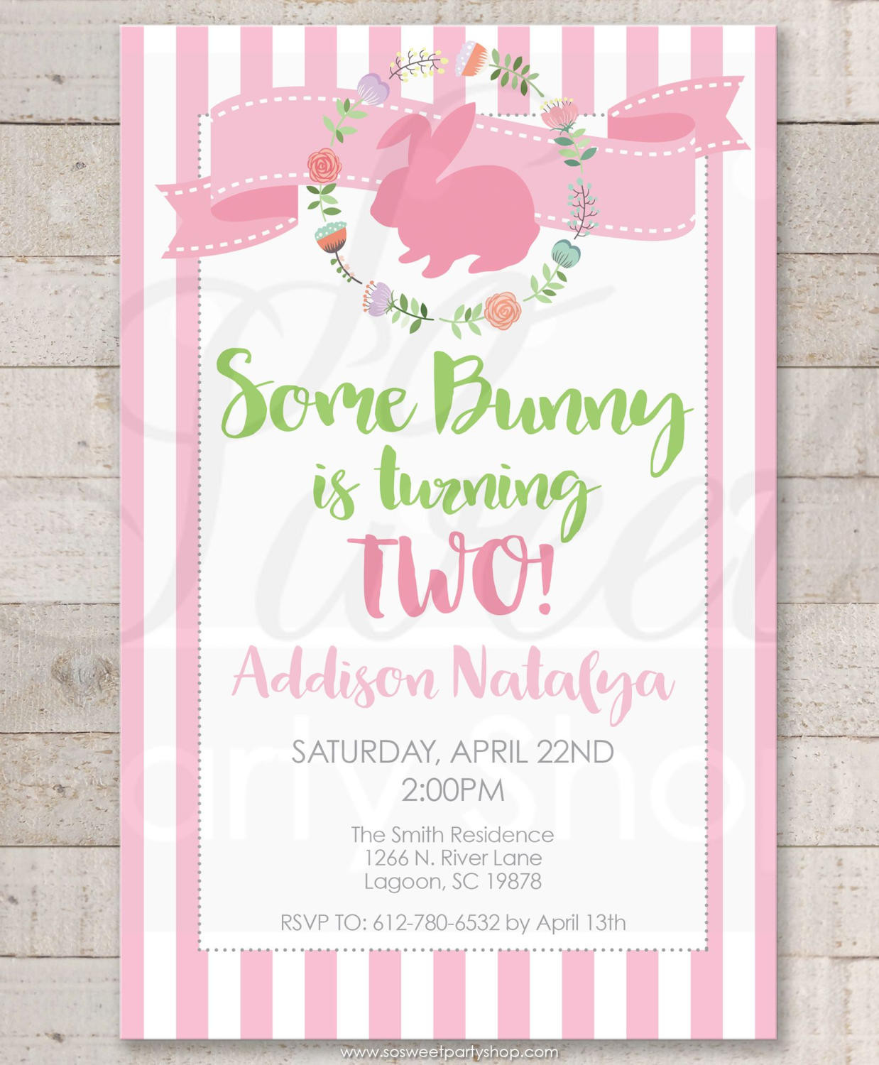 Easter Birthday Invitations  Some Bunny Is e Easter Birthday Invitations – 1st