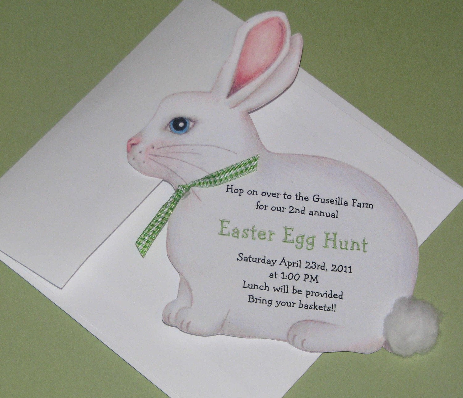 Easter Birthday Invitations  10 Easter Bunny Birthday Invitations Easter Party