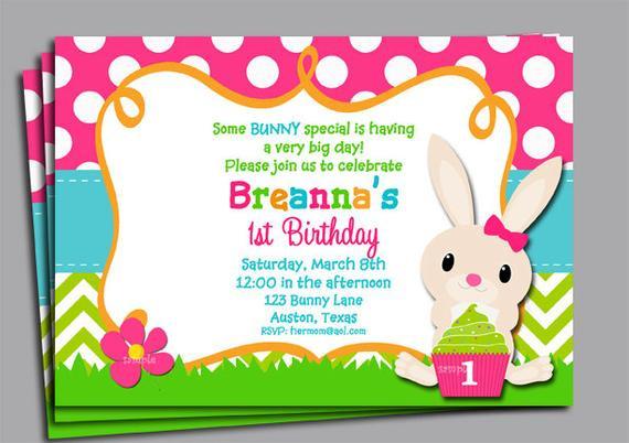 Easter Birthday Invitations  Easter Birthday Invitation Printable or Printed with FREE