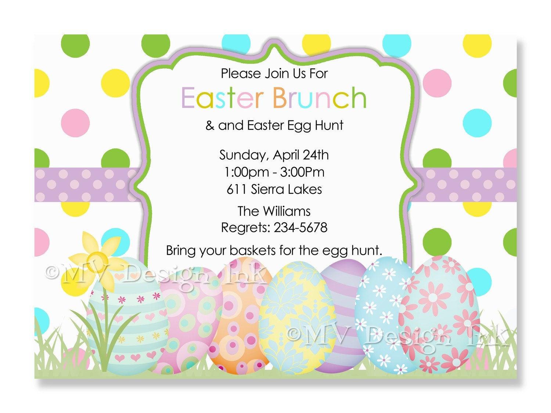 Easter Birthday Invitations  Personalized Easter Egg Hunt Invitation Egg Hunt