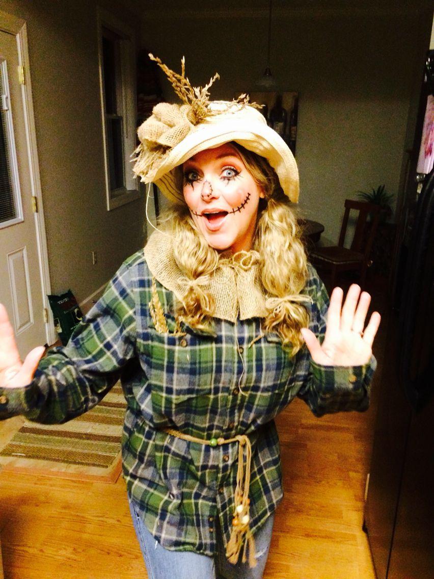 Easy DIY Halloween Costumes For Adults  Halloween adult women s scarecrow costume