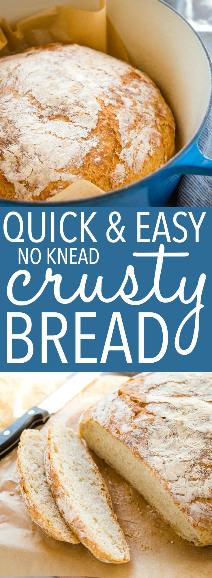 Easy No Knead Bread Recipe Quick  Quick & Easy No Knead Crusty Bread 4 Ingre nts The