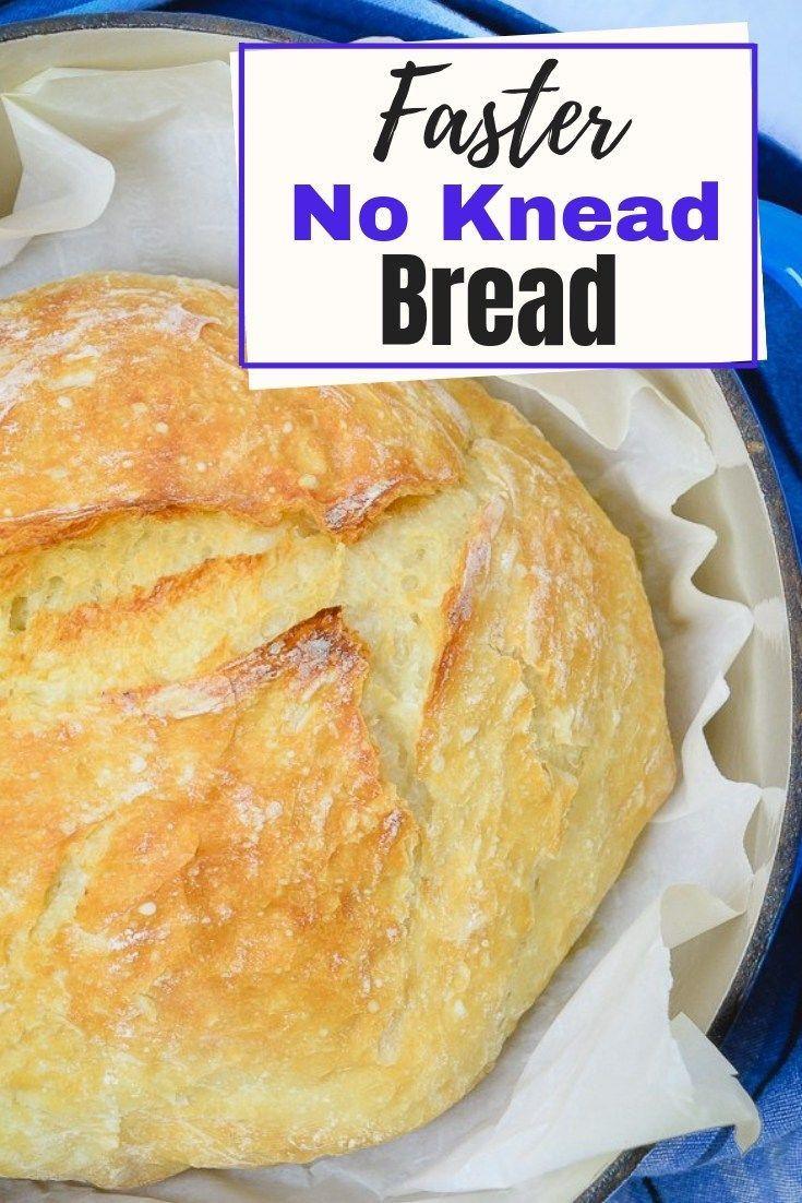 Easy No Knead Bread Recipe Quick  Faster No Knead Bread Recipe