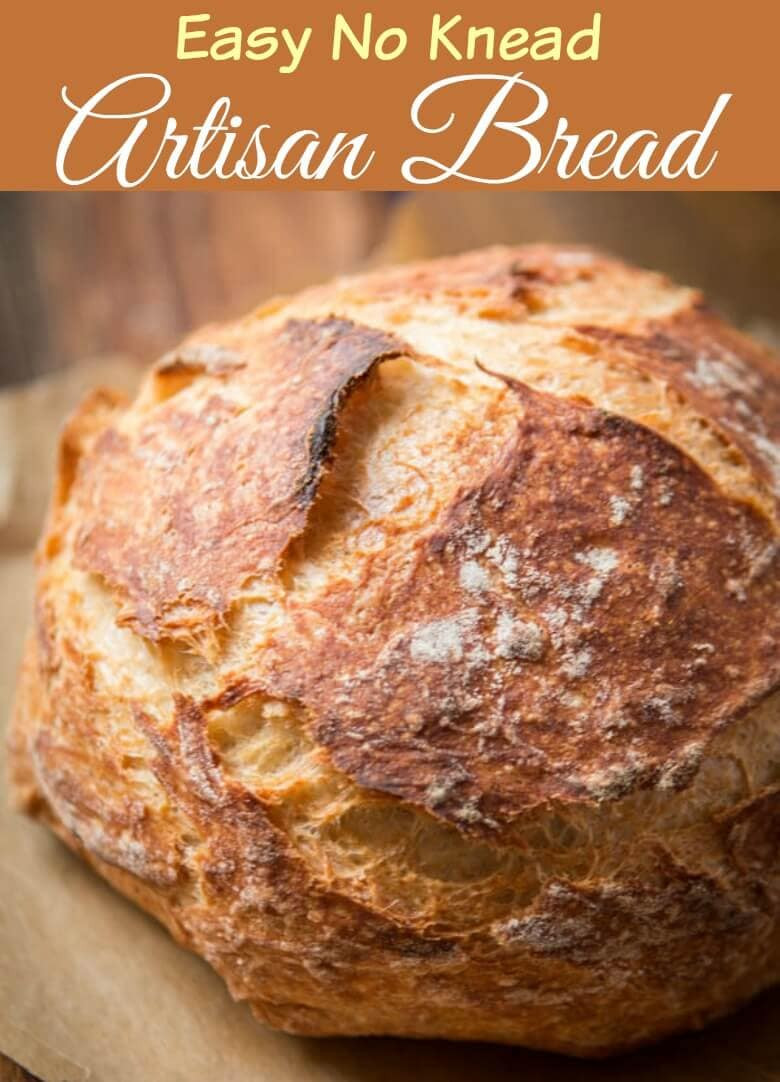 Easy No Knead Bread Recipe Quick  No Knead Artisan Bread Recipe in a Dutch Oven Oh Sweet