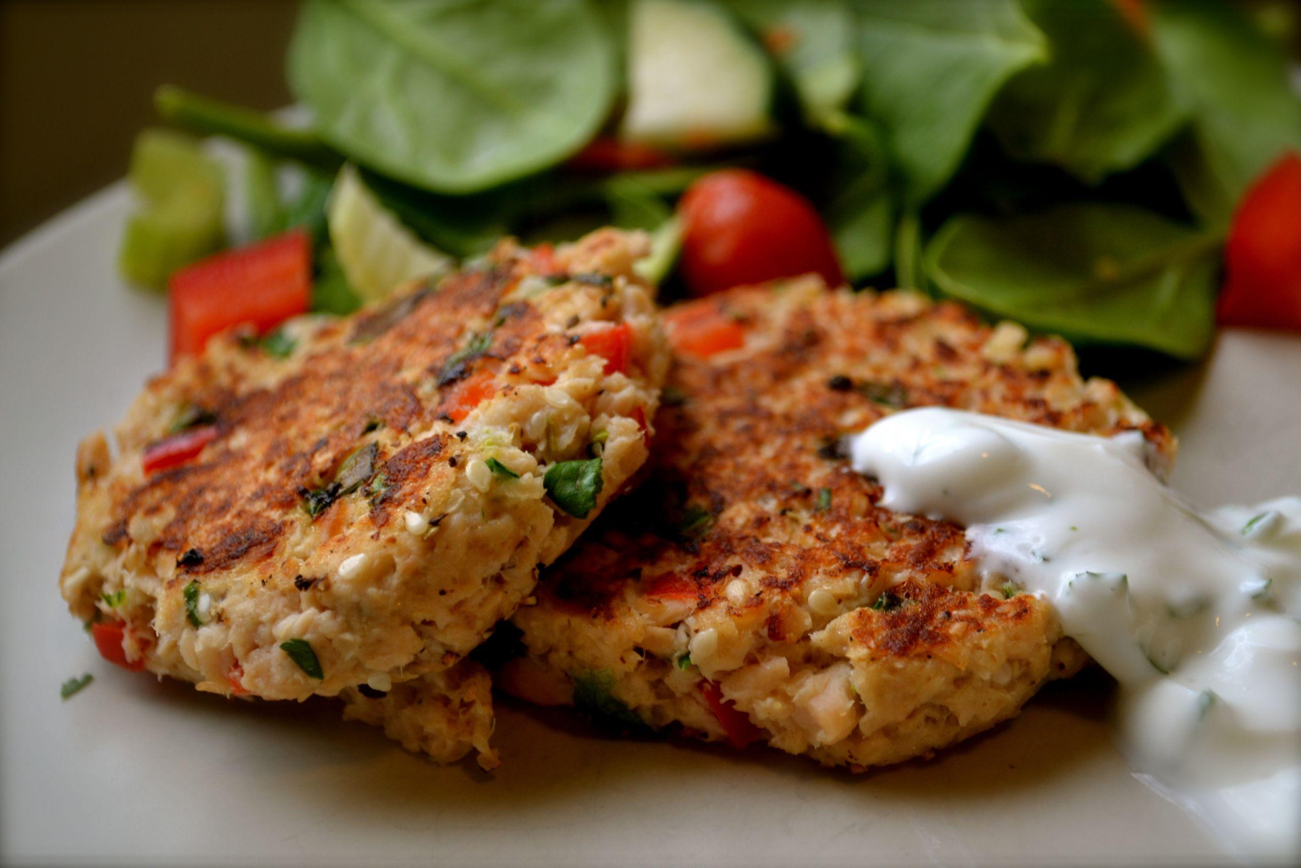 Easy Salmon Patties  Salmon Patties with Cilantro Lime Sauce – BIG EATS tiny