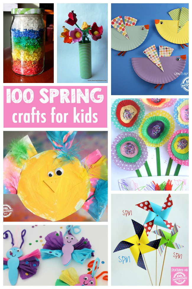 Easy Spring Crafts For Toddlers  100 Gorgeous and Easy Spring Crafts Kids Will Love