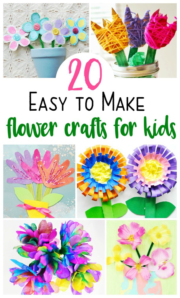 Easy Spring Crafts For Toddlers  20 Super Cute and Easy Flower Crafts for Kids To Make This
