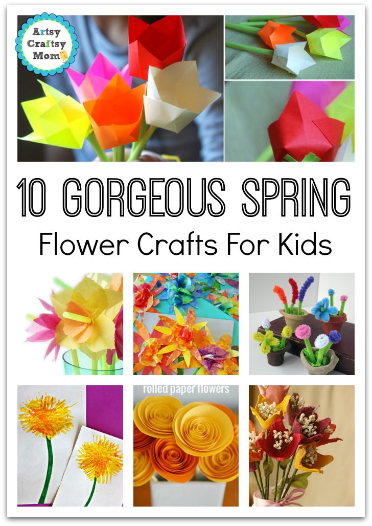 Easy Spring Crafts For Toddlers  72 Fun Easy Spring Crafts for Kids Artsy Craftsy Mom