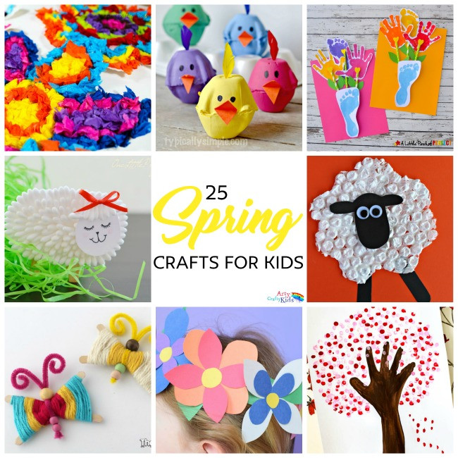 Easy Spring Crafts For Toddlers  Easy Spring Crafts for Kids Arty Crafty Kids