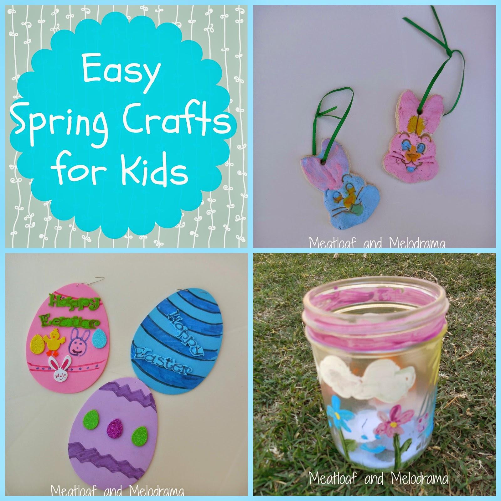 Easy Spring Crafts For Toddlers  Easy Spring Crafts for Kids Meatloaf and Melodrama