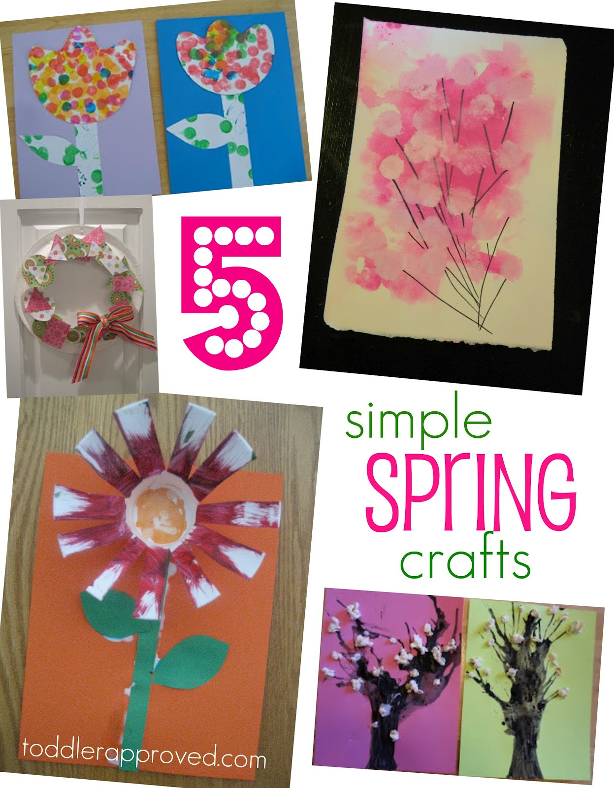Easy Spring Crafts For Toddlers  Toddler Approved 5 Simple Spring Crafts