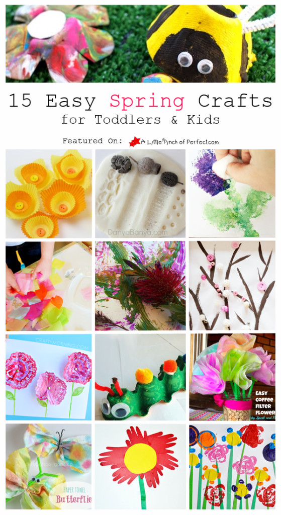 Easy Spring Crafts For Toddlers  15 Easy Spring Crafts for Toddlers & Kids