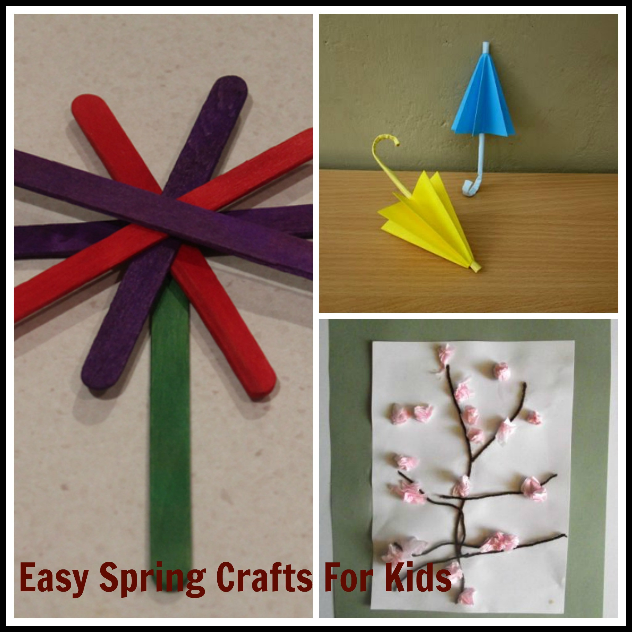 Easy Spring Crafts For Toddlers  Easy Spring Craft Ideas for Kids – Saving Mamasita