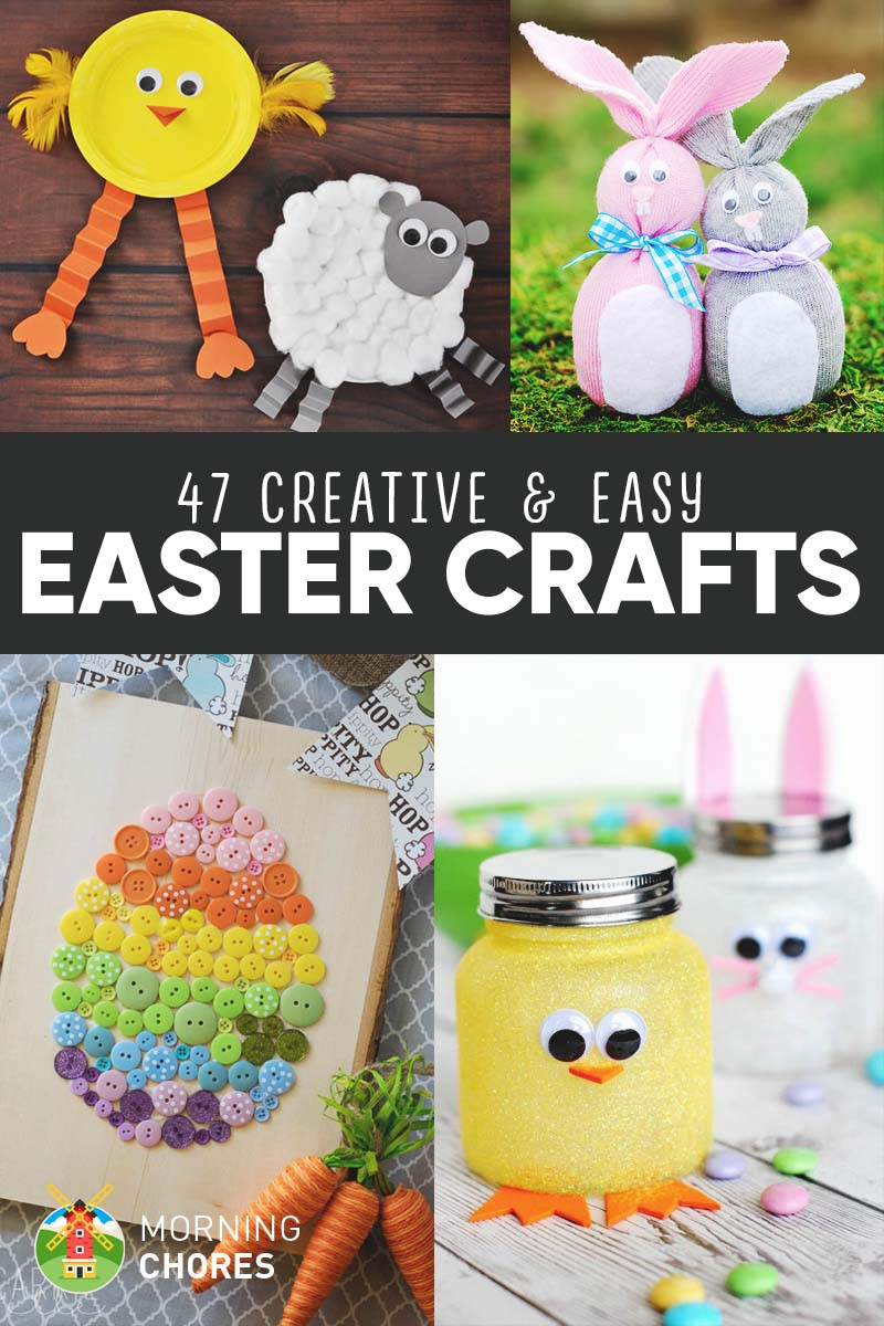 Easy Spring Crafts For Toddlers  47 Creative & Easy DIY Easter Crafts for Your Kids to Make