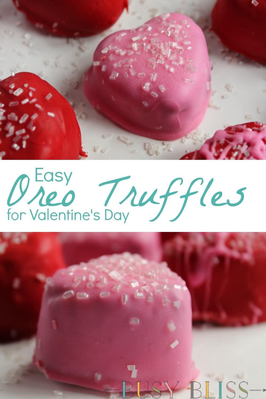 Easy Valentine'S Day Desserts  Easy No Bake Oreo Cookie Truffles for Valentine s Day