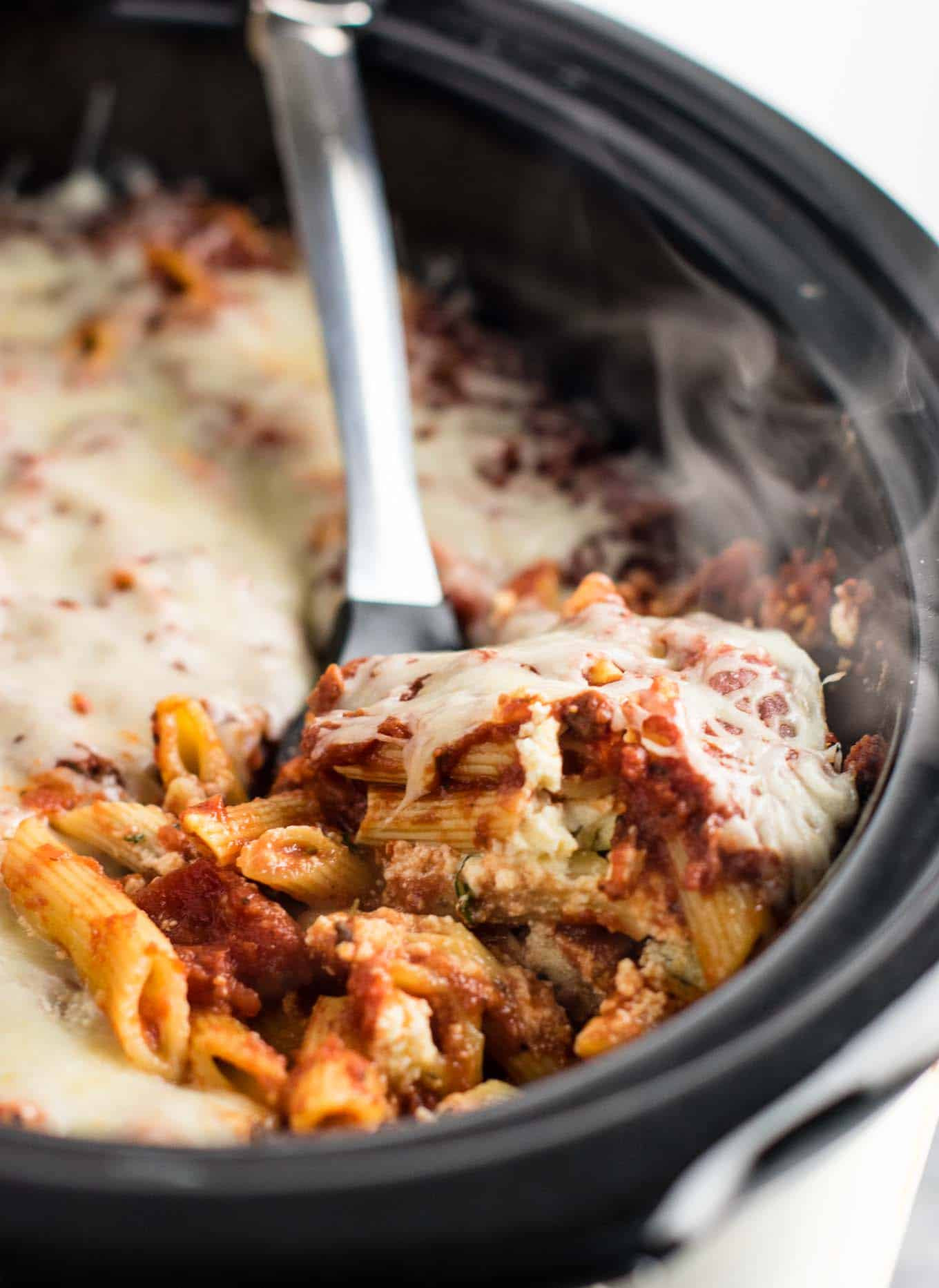 Easy Vegan Crockpot Recipes  Easy Crock Pot Baked Ziti Recipe Build Your Bite