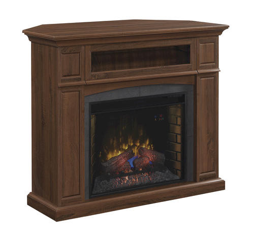 "Electric Fireplace Tv Stand Menards  50"" Abilene Electric Fireplace in Embossed Oak at Menards"