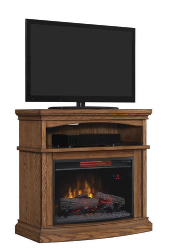 "Electric Fireplace Tv Stand Menards  36"" Midway Infrared Media Mantel in Premium Oak at Menards"