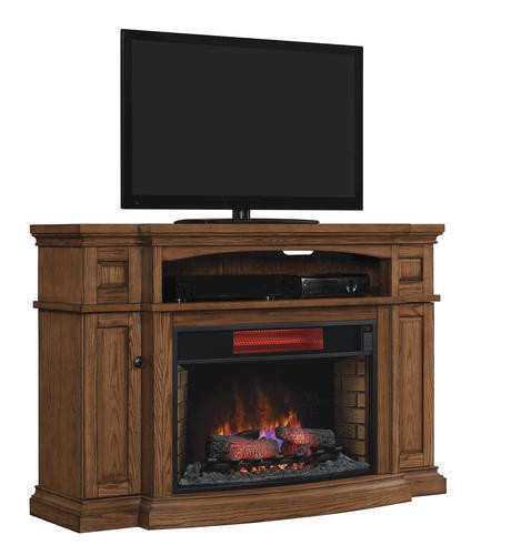 Electric Fireplace Tv Stand Menards  Midway Electric Fireplace in Premium Oak at Menards