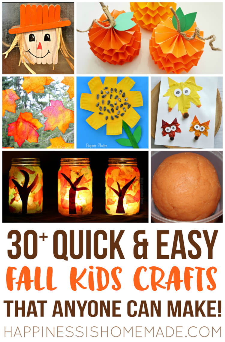 Fall Art Projects For Kids  Easy Fall Kids Crafts That Anyone Can Make Happiness is