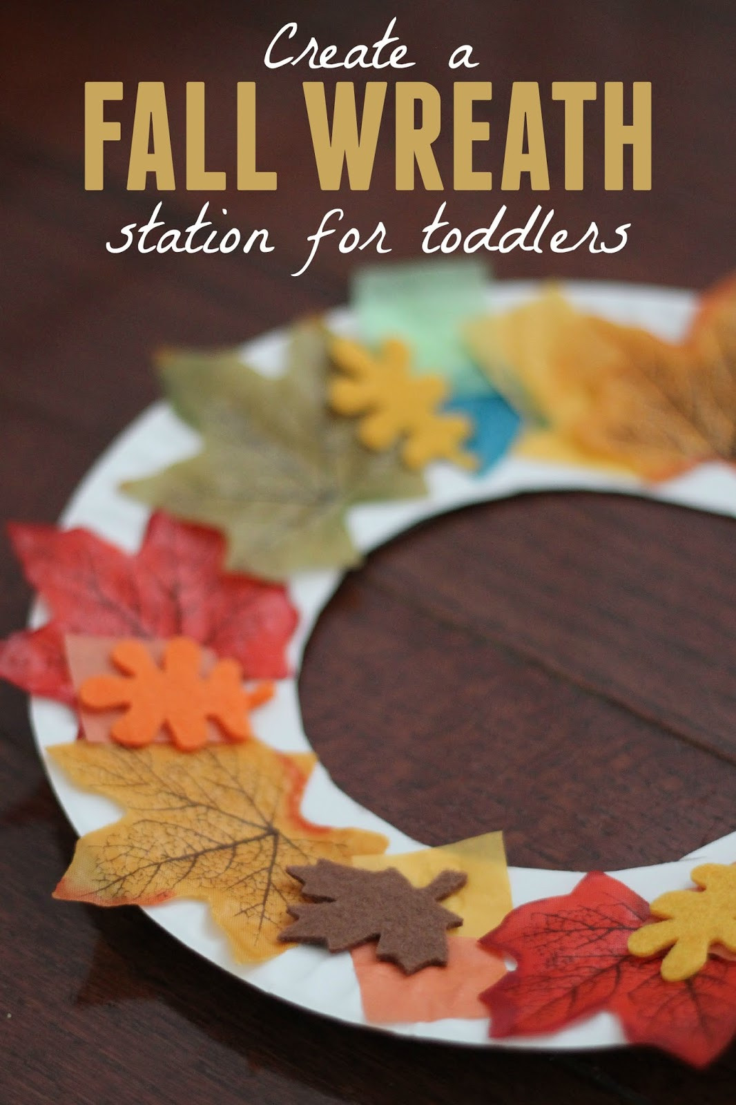 Fall Art Projects For Kids  Toddler Approved Fall Wreath Making Station for Toddlers