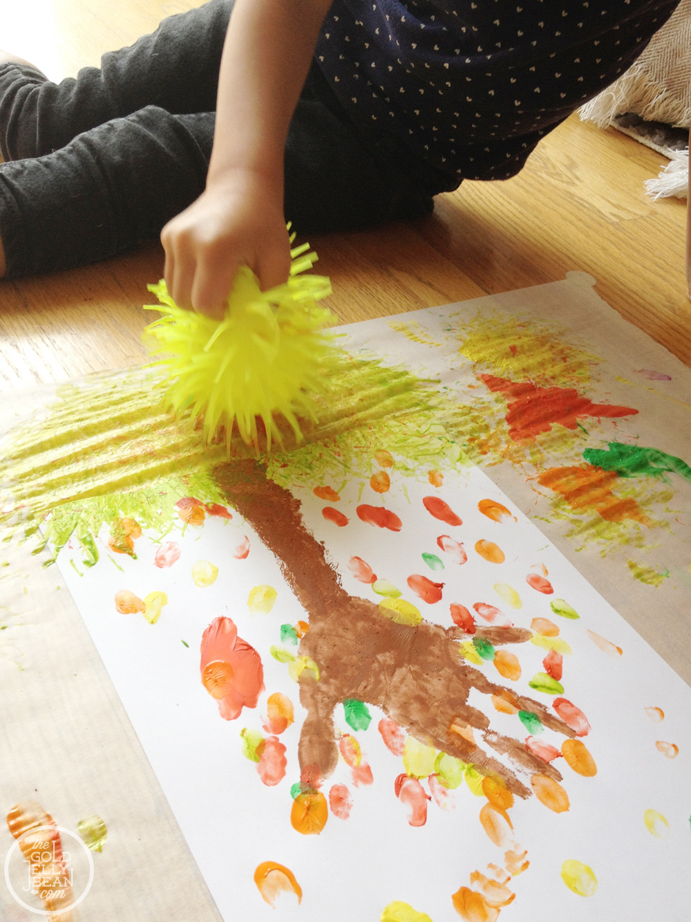 Fall Art Projects For Kids  Fall Artwork Finger Print Trees