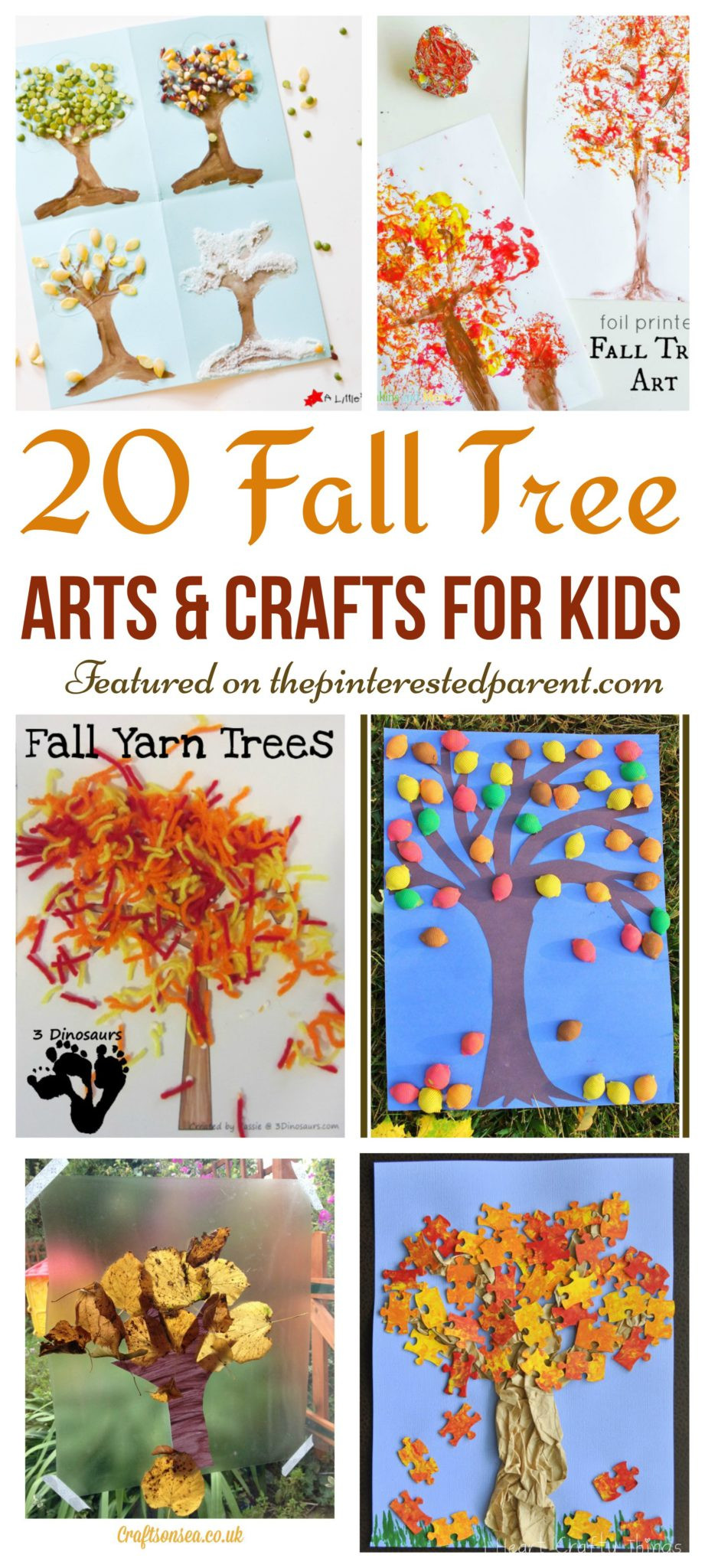 Fall Art Projects For Kids  20 Fall Tree Arts & Crafts Ideas For Kids – The