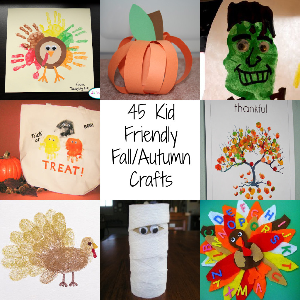 Fall Art Projects For Kids  45 Kid Friendly Fall Autumn Crafts A Spectacled Owl