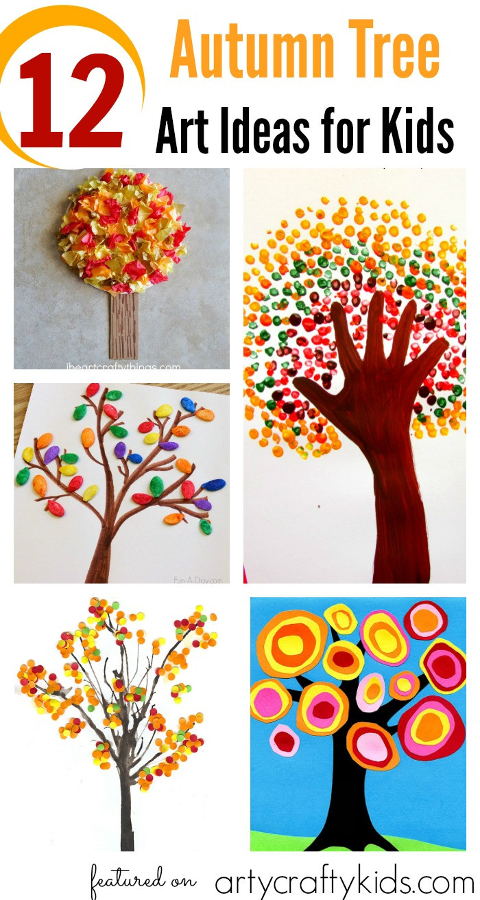 Fall Art Projects For Kids  12 Autumn Tree Art Ideas for Kids Arty Crafty Kids