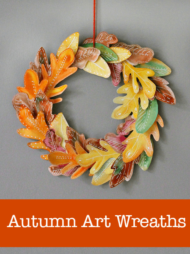 Fall Art Projects For Kids  10 beautiful homemade fall wreath art projects NurtureStore