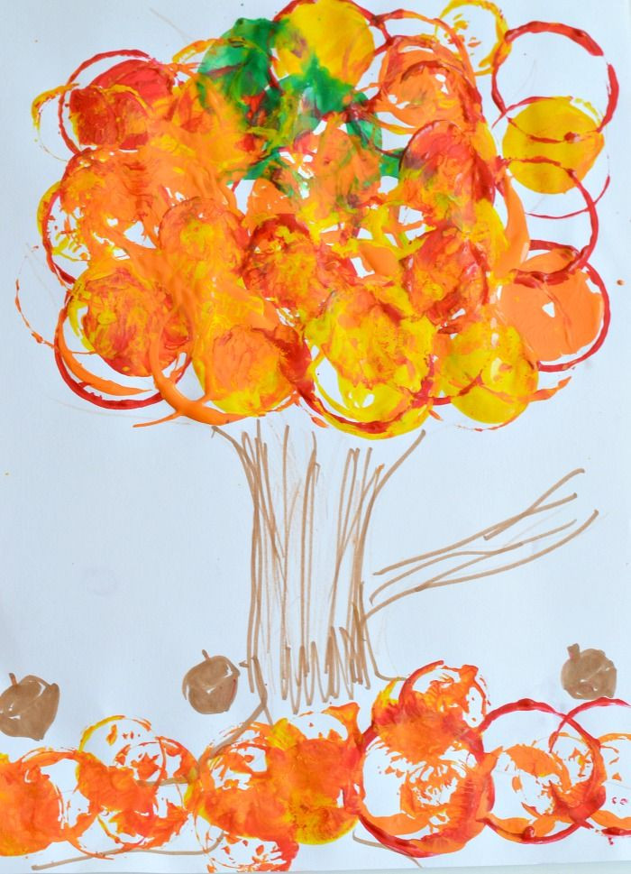 Fall Art Projects For Kids  Fall Art Projects for Kids Easy fall tree printing