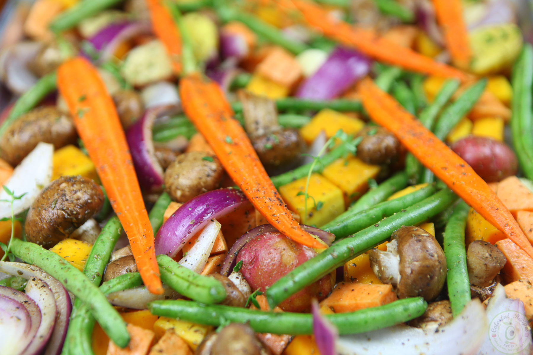 Fall Roasted Vegetables  Roasted Fall Ve ables Colorful Recipes