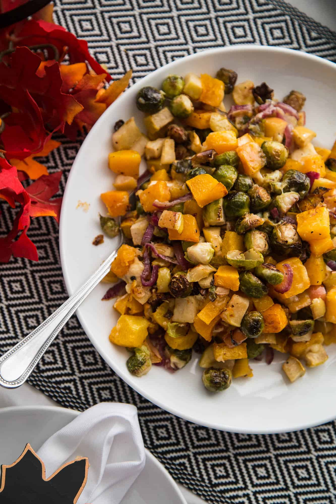 Fall Roasted Vegetables  Roasted Fall Ve ables with Apples & Gouda Perry s Plate